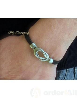 Unisex Δερμάτινο Βραχιόλι Nautical Knot Mydazzling, Order4all