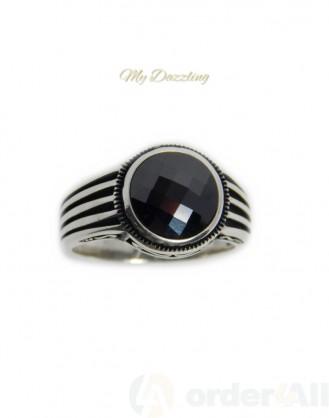 Ασημένιο Ανδρικο Δαχτυλιδι με πέτρα | Order4all,  Mydazzling