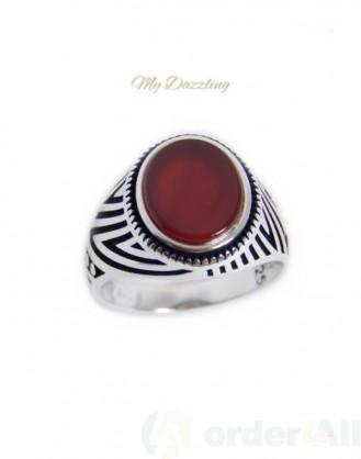 Ανδρικό δαχτυλίδι με κορνεόλη : dz-14781 | Order4all, Mydazzling