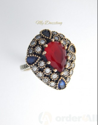 Ασημένιο Vintage γυναικείο δαχτυλίδι dz-14797 | Order4all,  Mydazzling