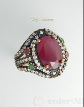 Ασημένιο Vintage γυναικείο δαχτυλίδι dz-14798 | Order4all,  Mydazzling