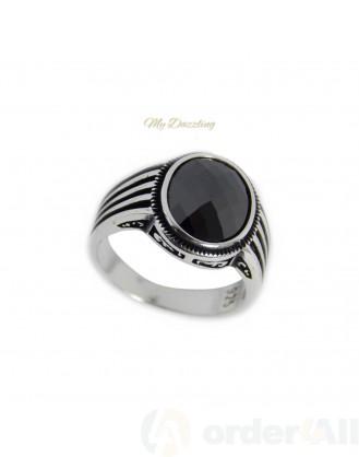 Ασημένιο Ανδρικο Δαχτυλιδι με πέτρα dz-14810 | Order4all,  Mydazzling
