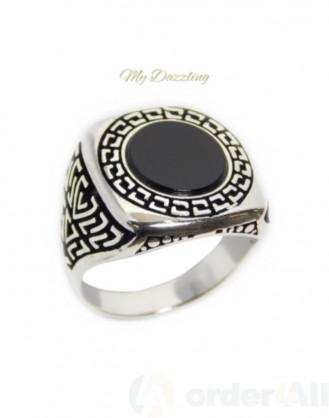 Ανδρικό ενχάρακτο δαχτυλίδι με όνυχα: dz-14822 | Order4all Mydazzling
