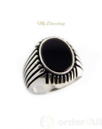 Ανδρικό ενχάρακτο δαχτυλίδι με όνυχα: dz-14827 | Order4all Mydazzling