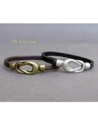Unisex Δερμάτινο Βραχιόλι Nautical Knot Mydazzling, Order4all