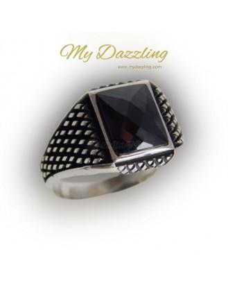 Ασημένιο σεβαλιέ δαχτυλίδι  : dz-14658 Mydazzling