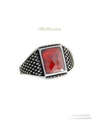 Ασημένιο σεβαλιέ δαχτυλίδι  : dz-14661 | order4all